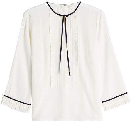 Marc Jacobs Pintuck Silk Blouse