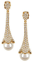 Nadri Pav & Faux-Pearl Drop Earrings
