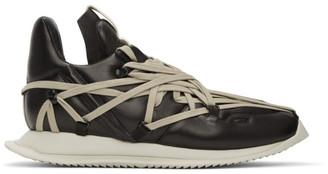 Rick Owens Black Maximal Runner Sneakers