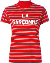 Harmony Paris - striped high neck top - women - Cotton - L