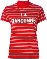 Harmony Paris - striped high neck top - women - Cotton - S