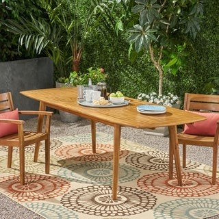 Christopher Knight Home Stamford Outdoor Expandable Acacia Wood Dining Table