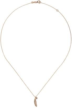 Kismet by Milka 14kt rose gold Mini raven diamond necklace