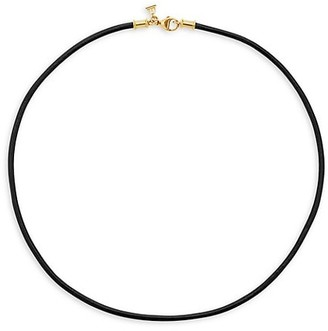 Temple St. Clair Leather Cord Necklace