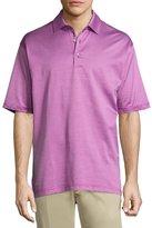 Bobby Jones Stripe-Print Short-Sleeve Polo Shirt
