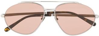 Brioni Aviator-Frame Sunglasses