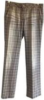 Sportmax Grey Cotton Trousers for Women