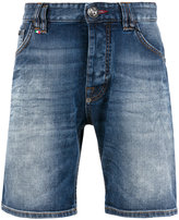 Philipp Plein logo denim shorts - men - Cotton/Polyester/Spandex/Elastane - 32