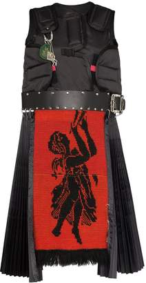 Chopova Lowena Guard leather detail dress
