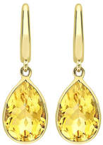 Kiki McDonough Classic 18k Yellow Citrine Pear Drop Earrings
