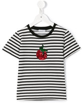 Dolce & Gabbana striped T-shirt - kids - Cotton/Polyamide/Polyester - 8 yrs
