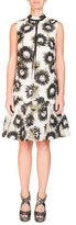 Erdem Nena Sleeveless Daisy-Print Mock-Neck Trapeze Dress