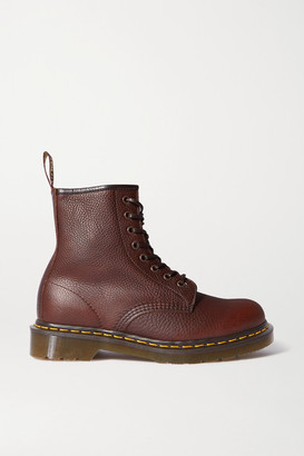 Dr. Martens 1460 Lace-up Textured-leather Ankle Boots - Brown