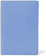 Smythson Panama Textured-leather Travel Wallet - Blue