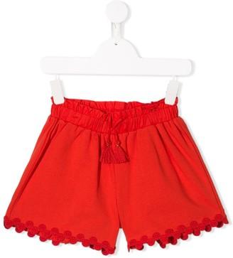 Chloé Kids embellished hem shorts