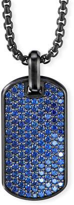 David Yurman Men's Blue Sapphire Streamline Dog Tag