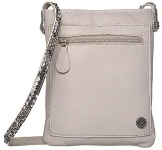 Leather Rock Cobra Cell Pouch (Stone/Snake Bone) Cross Body Handbags