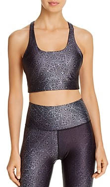 Terez Metallic-Print Sports Bra