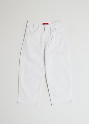Eckhaus Latta Women's Baggy Jean in White, Size 28   100% Cotton