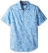 Nautica Men's Short Sleeve Mini Print Button Down Shirt
