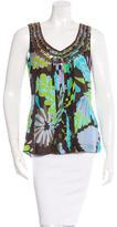 Tory Burch Abstract Print Silk Top