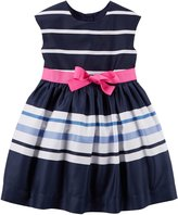 "Carter's Little Girls' Toddler ""Sashed & Striped"" Dress"