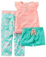 Carter's Girls 4-14 Coral Geometric Pajama Set