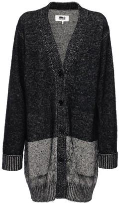 MM6 MAISON MARGIELA Brushed Cotton Blend Knit Cardigan