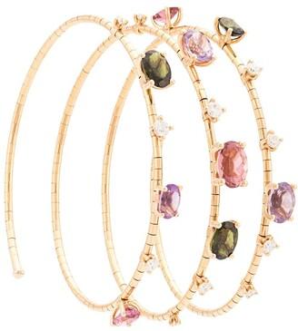 Mattia Cielo 18kt rose gold Rugiada mixed gemstone bangle