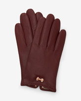 Ted Baker Metallic bow leather gloves