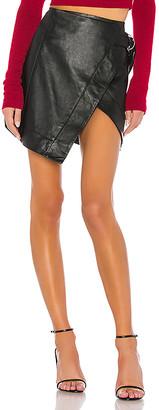 Camila Coelho Madeline Leather Mini Skirt