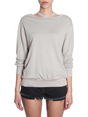 Unravel Cut Out Round Collar Sweatshirt