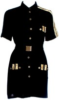 Relax Baby Be Cool Short Sleeve Button Up Shirt Dress With Pockets Black
