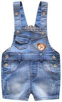 Kidscool Summer Baby Boys/Girls Cute Blue Adjustable Denim Short Overalls