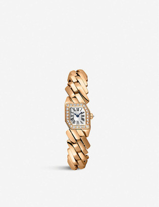 Cartier Maillon de 18ct rose-gold and 0.6ct brilliant-cut diamond quartz watch