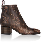 Valentino Women's Santeria Leather Ankle Booties-TAN