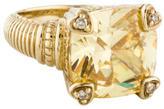 Judith Ripka Canary Crystal & Diamond Ring
