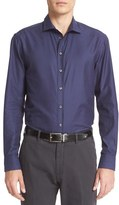 Armani Collezioni Men's Trim Fit Tonal Gingham Sport Shirt