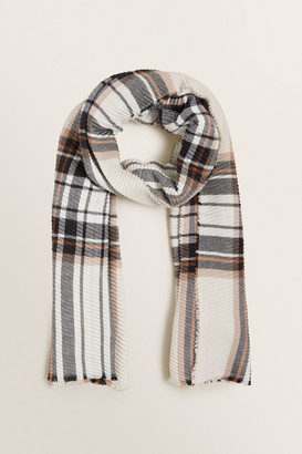 Seed Heritage Pleated Check Scarf