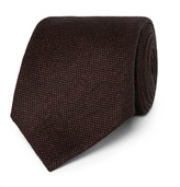 Tom Ford 8cm Wool And Silk-blend Tie - Burgundy