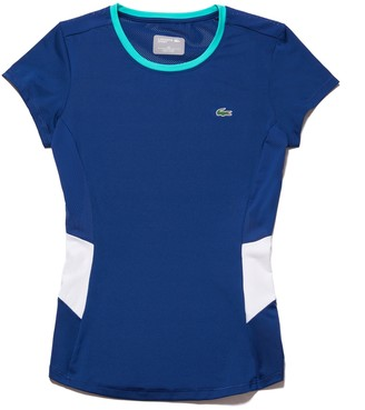 Lacoste Women's SPORT Crew Neck Stretch Jersey Tennis T-shirt