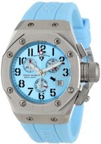 Swiss Legend Women's 10535-012 Trimix Diver Chronograph Light Blue Dial Light Blue Silicone Watch