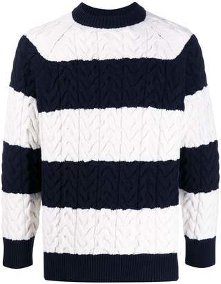 Sunnei Cable Knit Striped Jumper