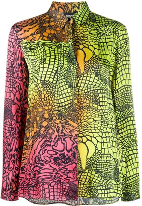 Just Cavalli Gradient Print Long-Sleeved Shirt