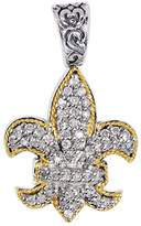 Phillip Gavriel 18k Gold & Sterling Silver 0.45 Ctw Diamond Pendant -18""