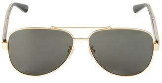 Gucci 63MM Browline Aviator Sunglasses