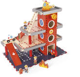 Janod Wooden Fire Station With Accessories