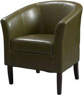 Asstd National Brand Simon Cedar Faux Leather Barrel Chair