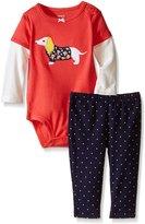Carter's Baby Girls' 2 Piece Graphic Bodysuit Set (Baby)