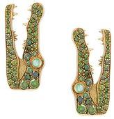 Marc Alary pavé diamonds crocodile earrings